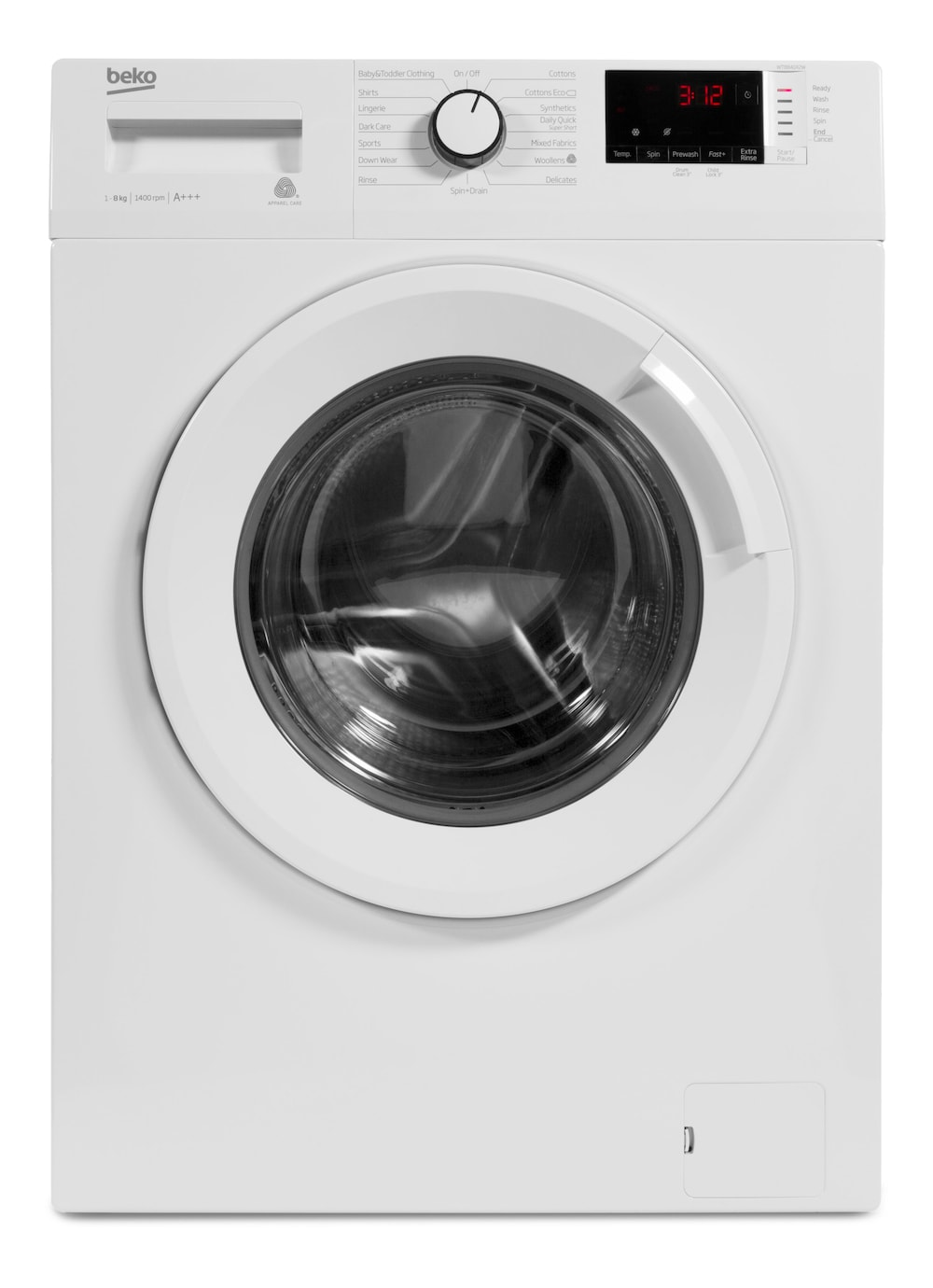BEKO WTB841R2W 8 kg 1400 Spin Washing Machine - White
